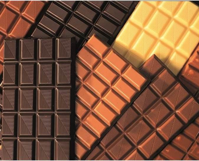 Mehrere Riegeln von verschiedenen Schokoladen Sorten
