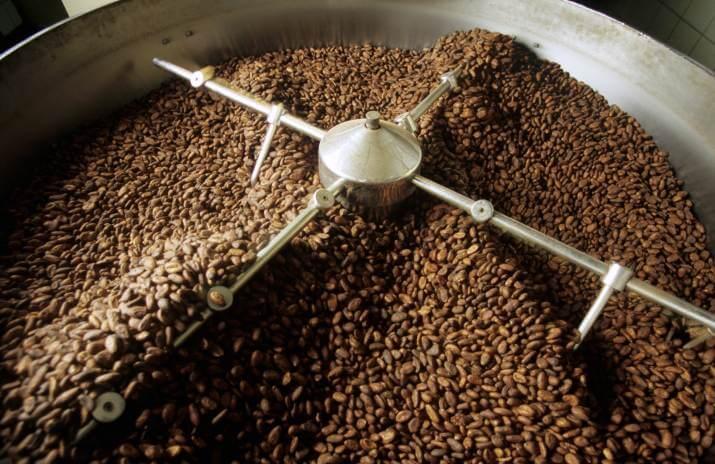 Vermahlung der Kakaobohnen