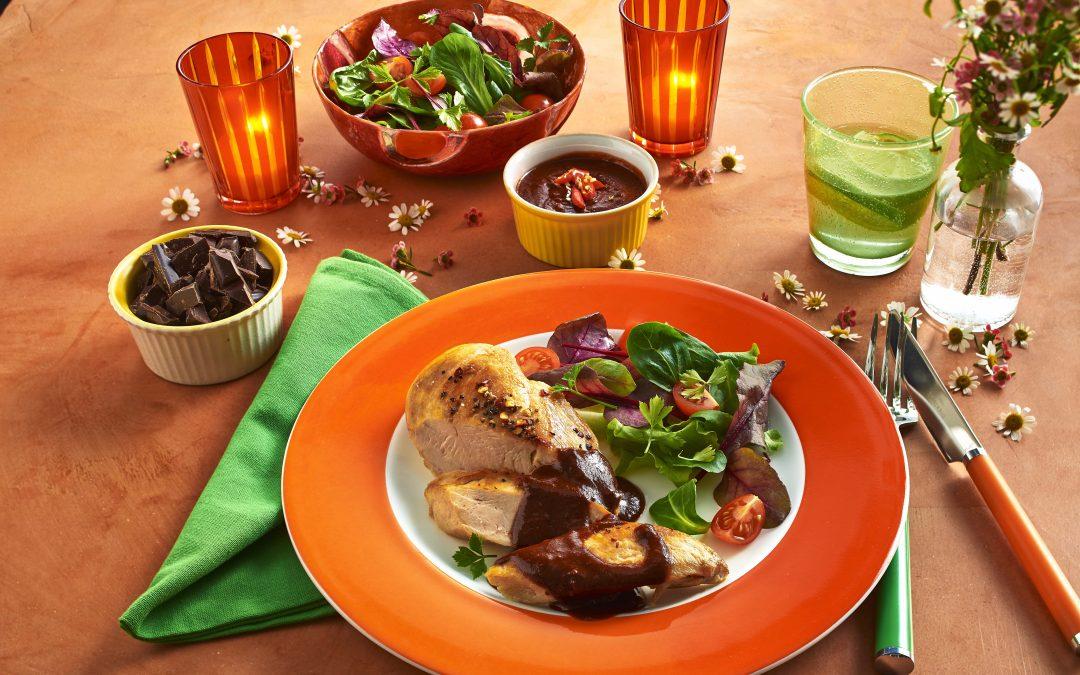 Sommerfrisch und schokoladig lecker: Pollo con Mole