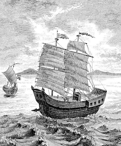 Eine spanische Galone auf dem Meer